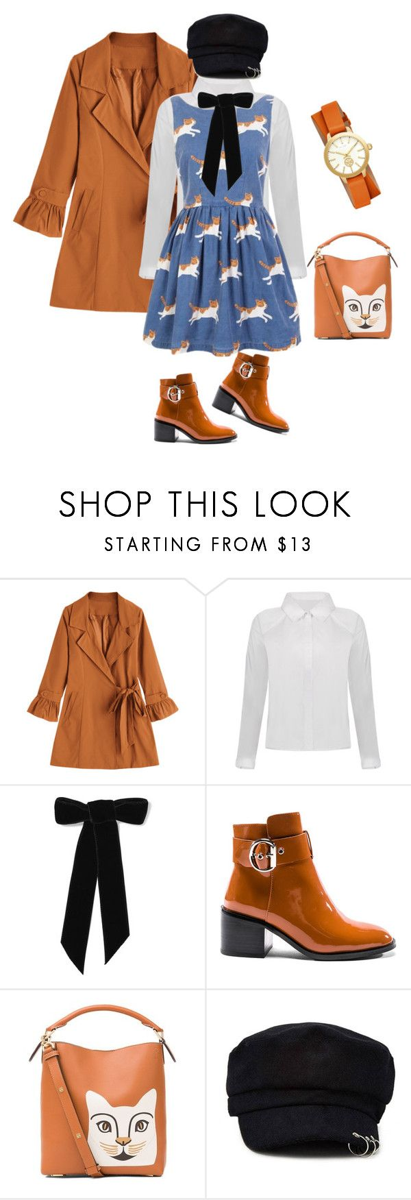 """catwalk"" by frizzgirly ❤ liked on Polyvore featuring Jennifer Behr, Jeffrey Campbell, Loewe, Forever 21 and Tory Burch"