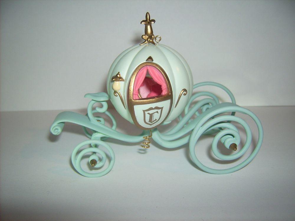 Disney Cinderella Coach Keepsake Collectible Christmas Ornament Hallmark Holiday