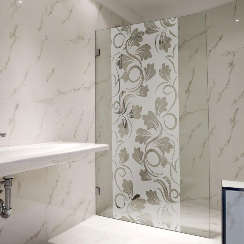 film adh sif pour paroi de douche fleur baroque salle de bain pinterest glass design. Black Bedroom Furniture Sets. Home Design Ideas