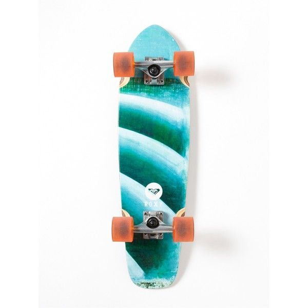 Roxy Corduroy Skateboard (115 AUD) ❤ liked on Polyvore featuring white