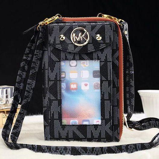 Brand MK phone wallet iPhone 7 case bag black