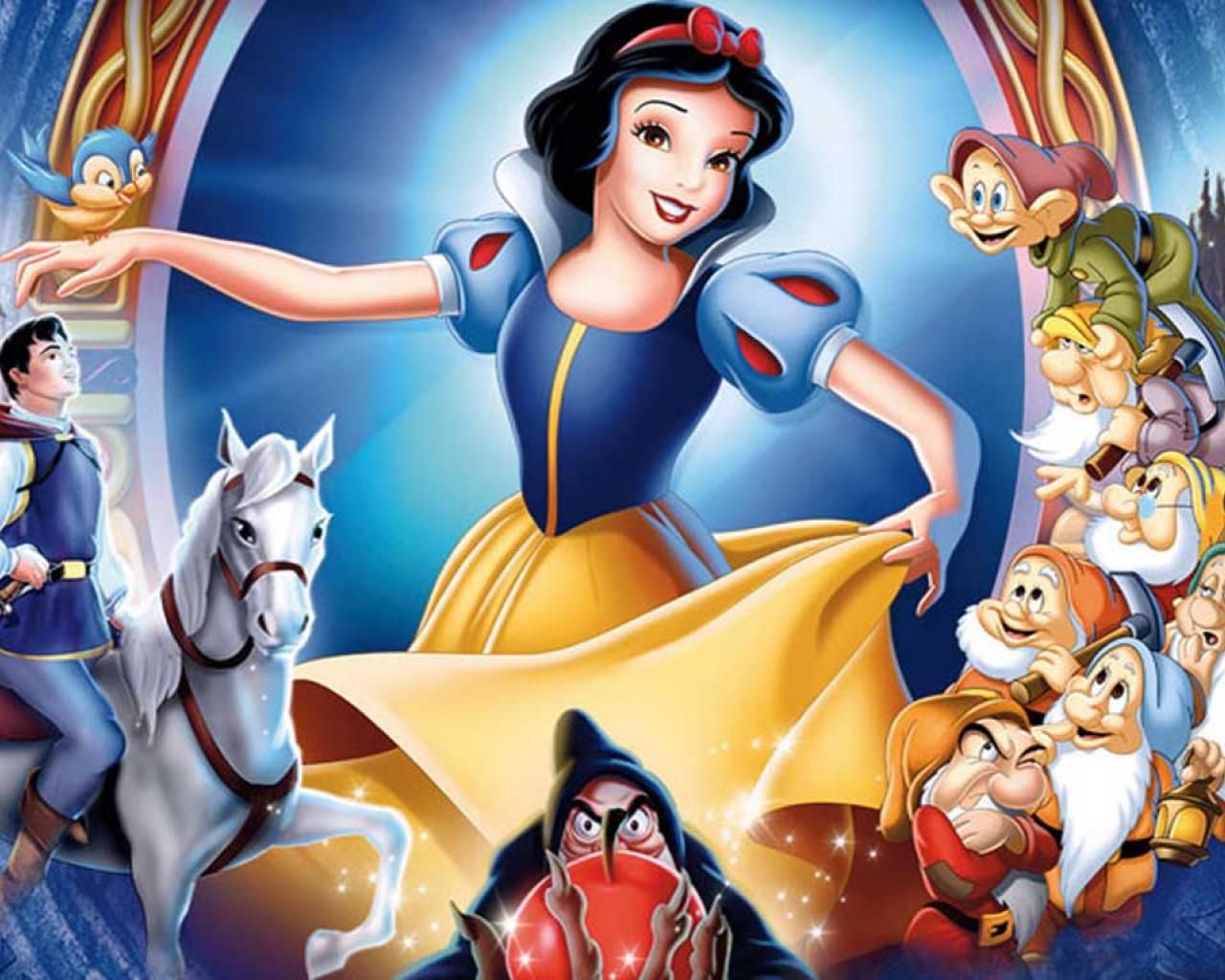 Top Cartoon Wallpapers Snow White And The Seven Dwarfs Wallpaper