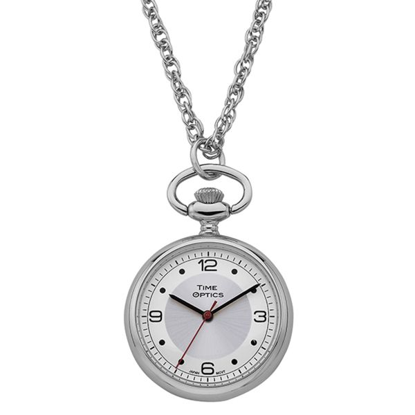 Women's Silver Sunray Dial Pendant Watch - Overstock Shopping - Big Discounts on More Brands Women's Watches