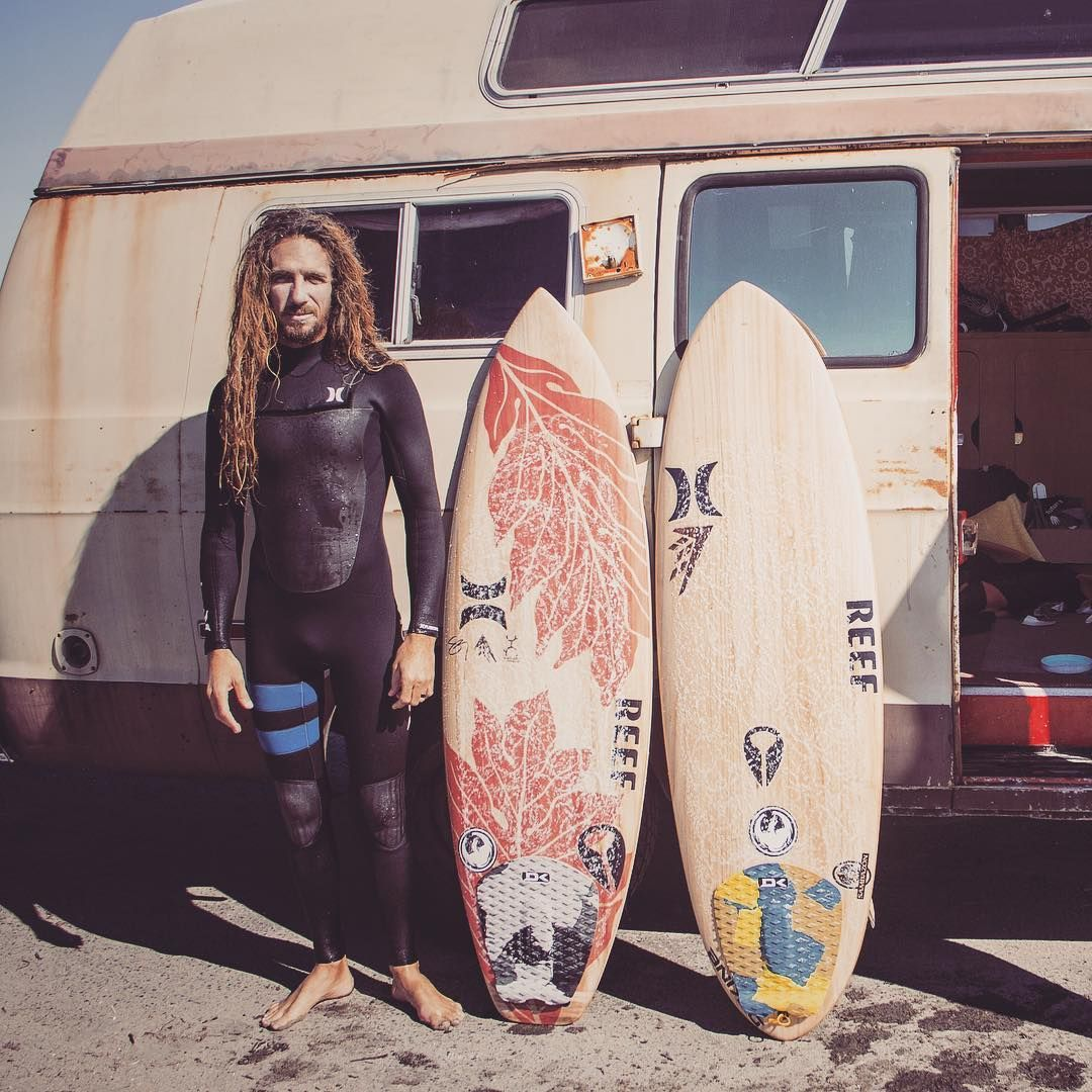 "22a0b52777 "" rob machado with his  almondbutter and  creeper...and an epic van.   rob machado surfboards  thefutureunderyourfeet  timbertek"""