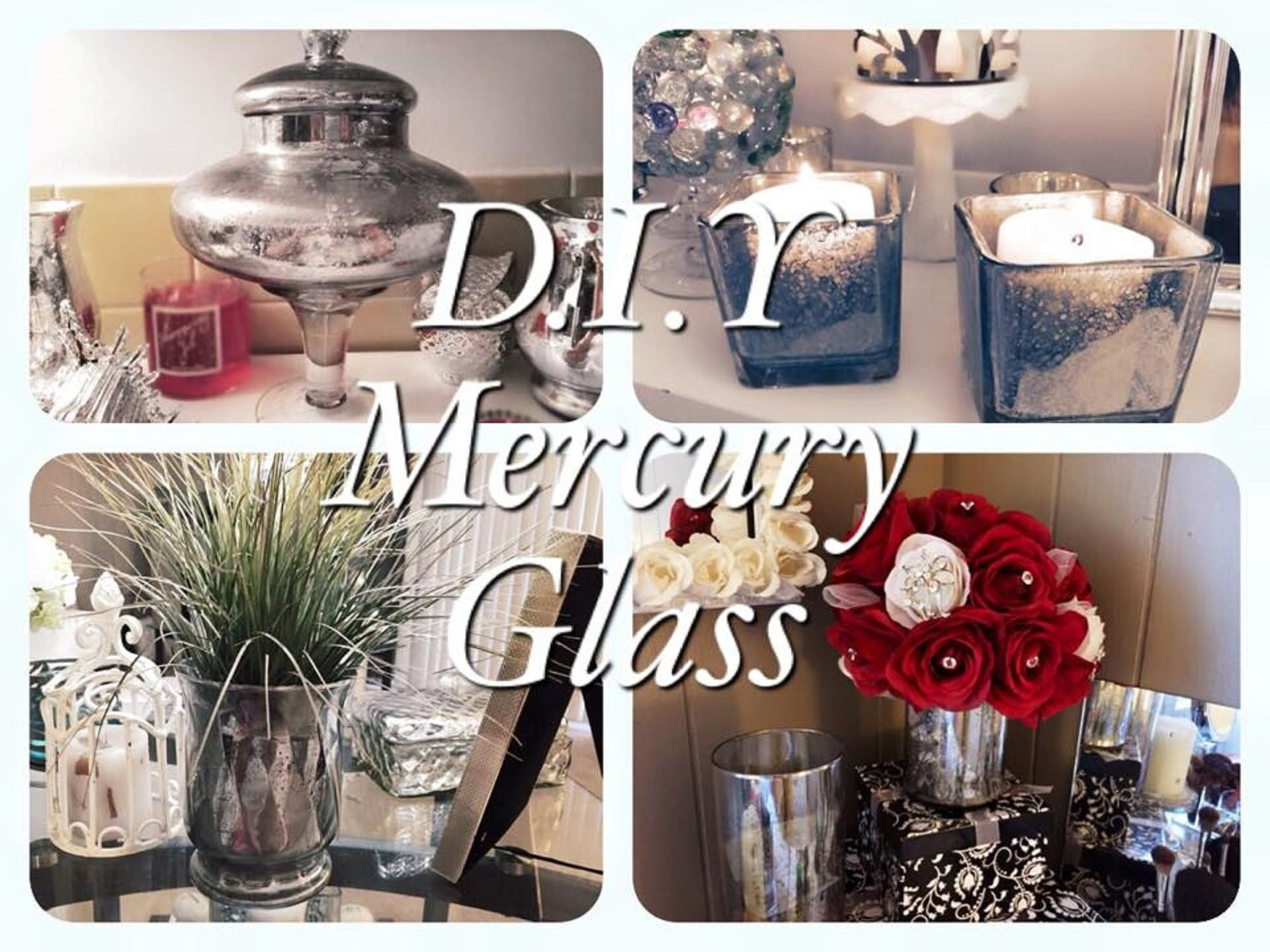 Dollar Tree Faux Mercury Glass D.I.Y Projects (With images