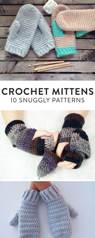 Top Crochet Mitten Patterns on Craftsy | Pinterest | Guantes, Punto ...