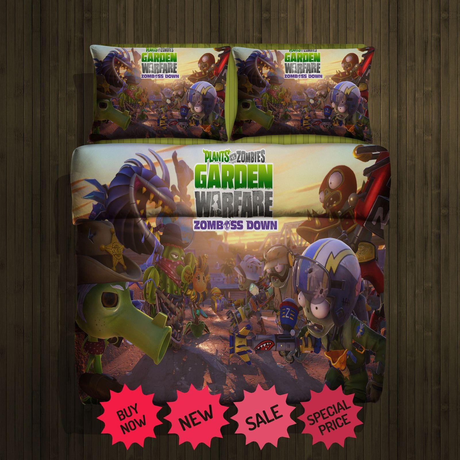 Plants Vs Zombies Blanket Large 2 Pillow Cases #94732217,94732218(2 ...