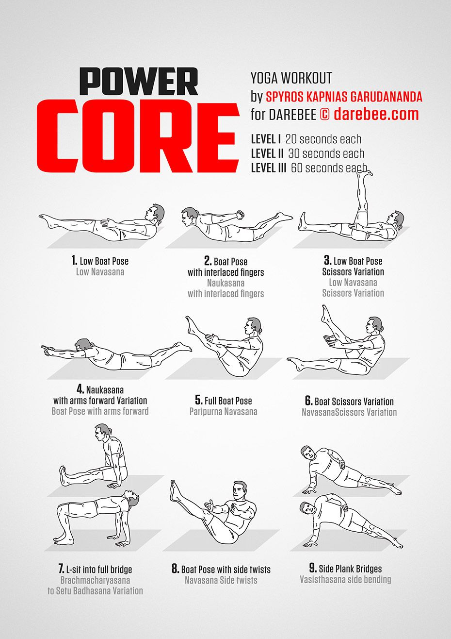Power Core Workout Power Yoga Workout
