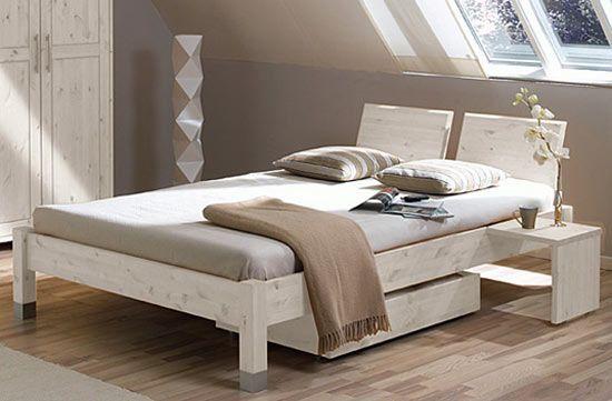 Massivholzbetten weiß  Bett Sophia - weiß-lasiert mit Kopfteil C | Rebenhaus | Pinterest ...
