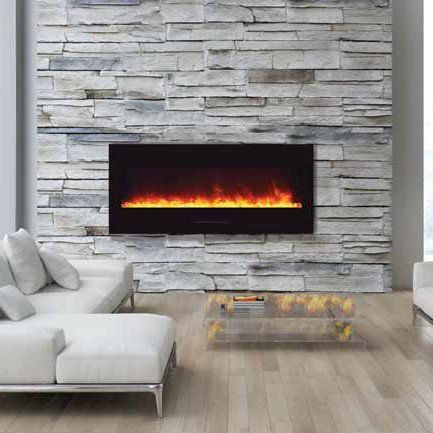 Amantii Wall Mount Flush 50 inch Electric Fireplace in Black Glass in 2019 | Electric Fireplaces ...