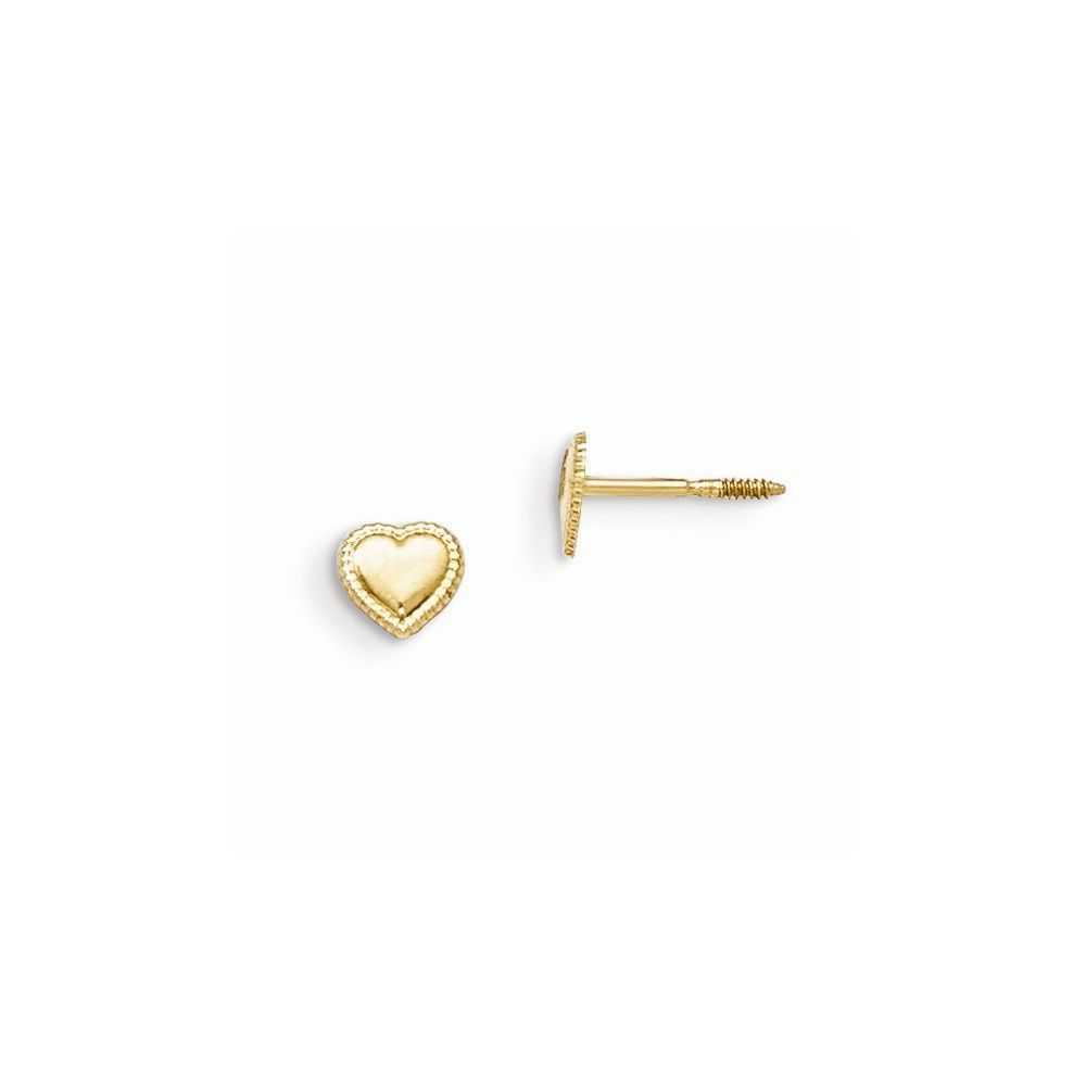 14k Madi K Heart Earrings