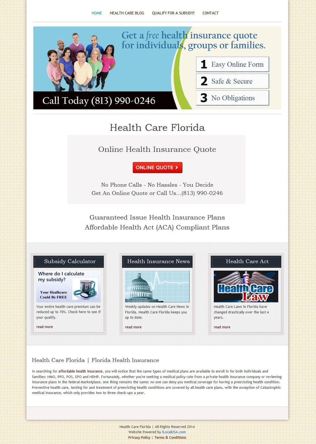 Health Care Florida Health insurance quote, Health