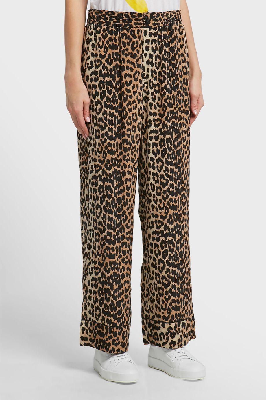 c94714c99456 GANNI Fayette Leopard Print Silk Trousers. #ganni #cloth # | Ganni ...