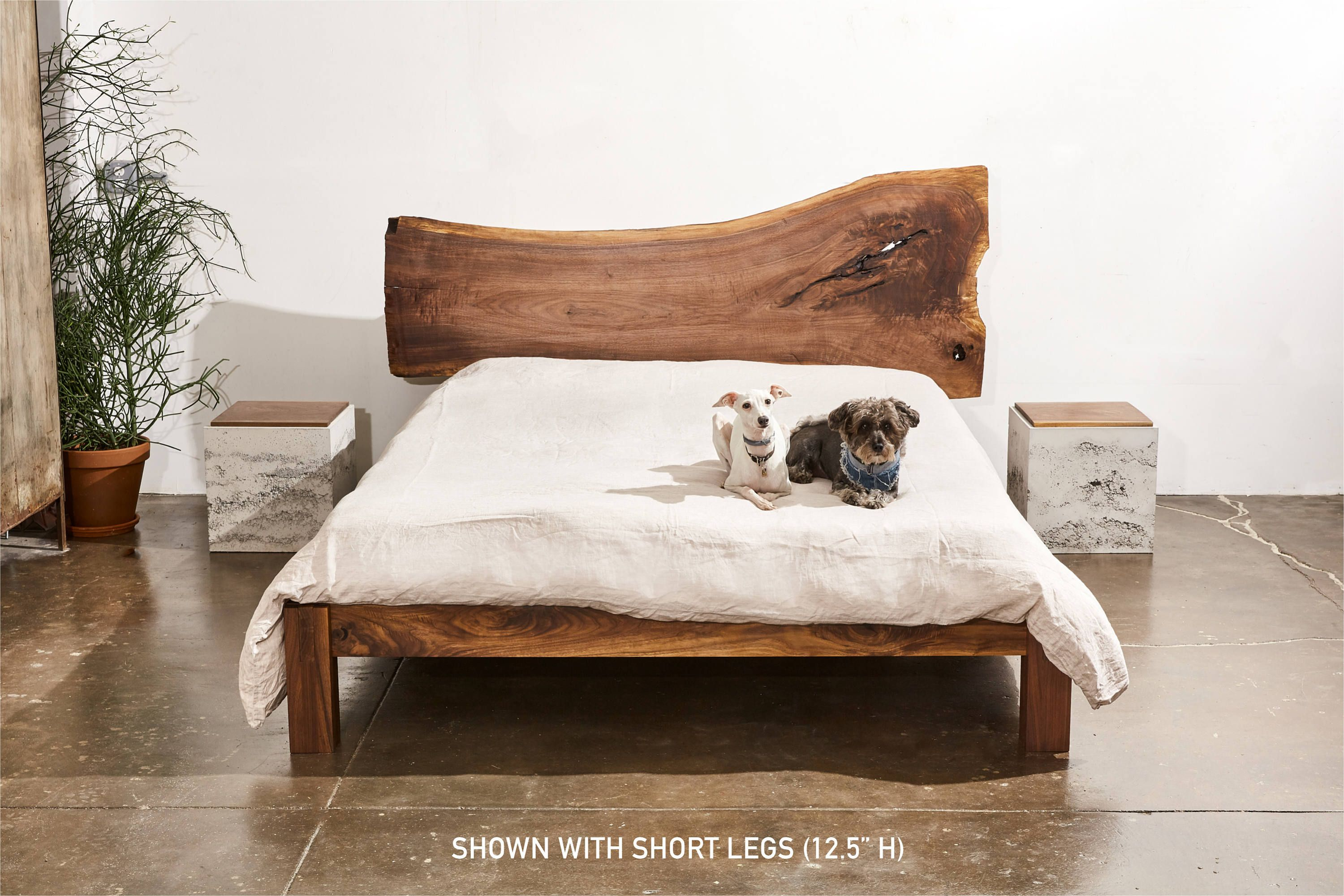 Hudson Bed Minimalist Wooden Bedframe Made With Walnut Etsy