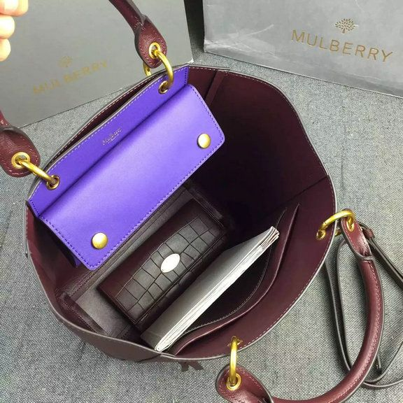 28ce32758ab6 2016 A W Mulberry Maple Tote Bag Burgundy Printed Goat Leather  HH3865- Burgundy  - £197.00   Mulberry Outlet UK Team
