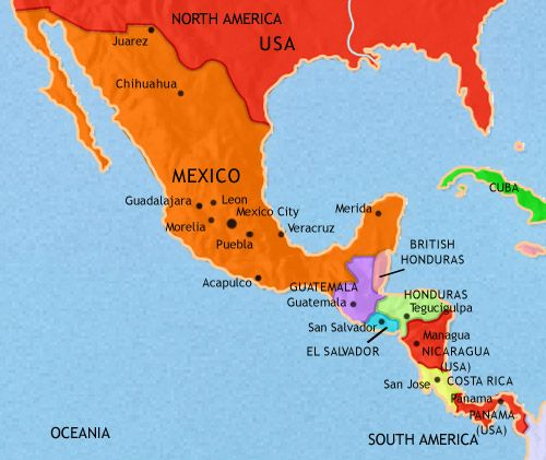 Uk Drop A Nuclear Bomb On Guatemala British Honduras: Detailed Map Of Mexico And Central America At Infoasik.co