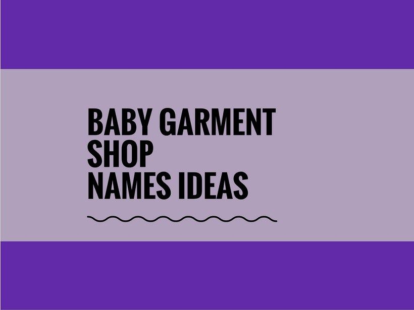 Creative Shop Shopping Garments Ideas Baby Catchy 191 Names Name Small Business Garment Business