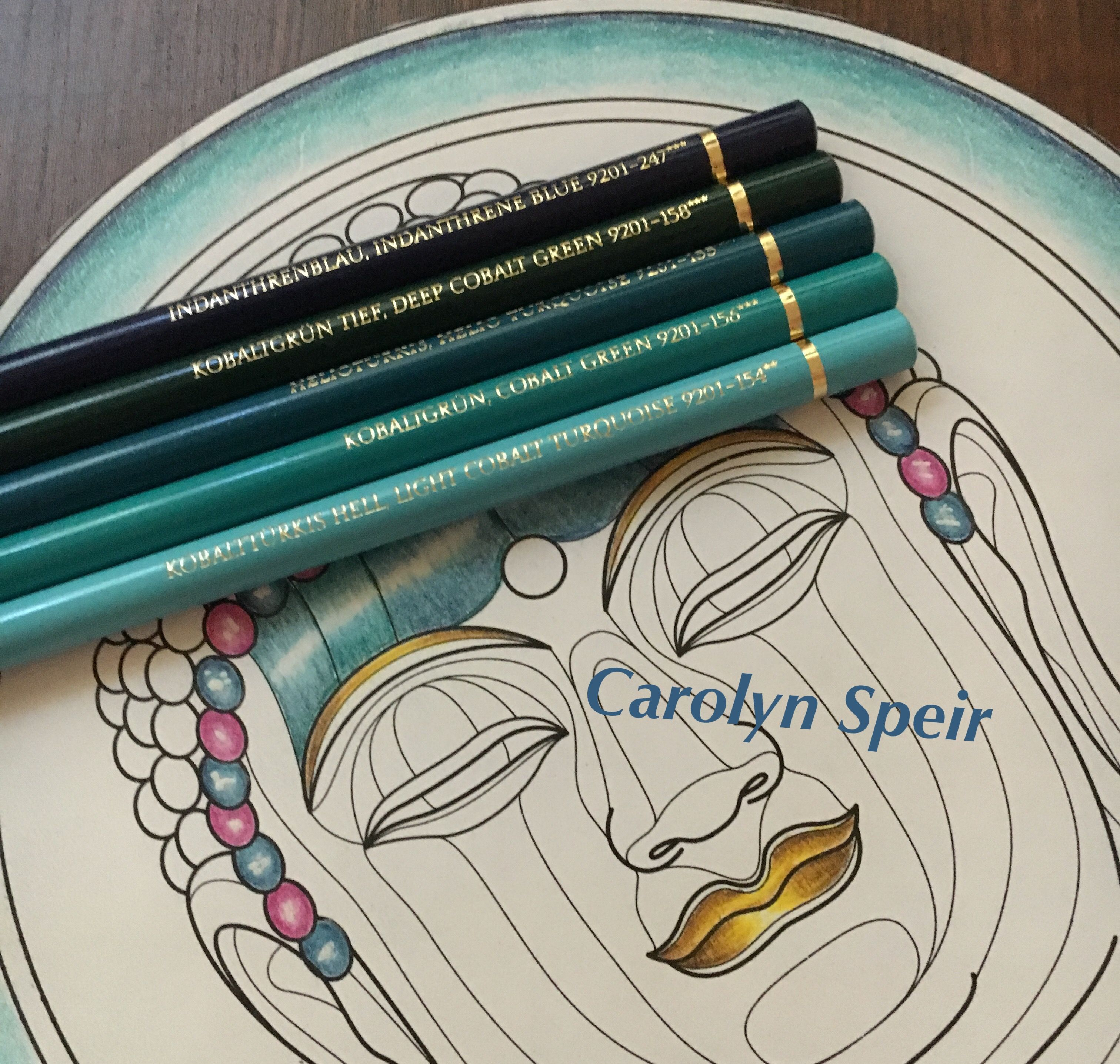 Colorist Carolyn Speir Polychromos Wenn Du Mal Buch Farbstift Tutorial