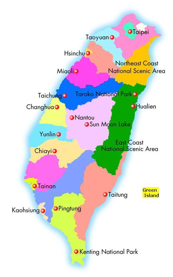 Green Island Adventures, Taiwan #Taiwan Pinterest Taiwan and - new taiwan world map images