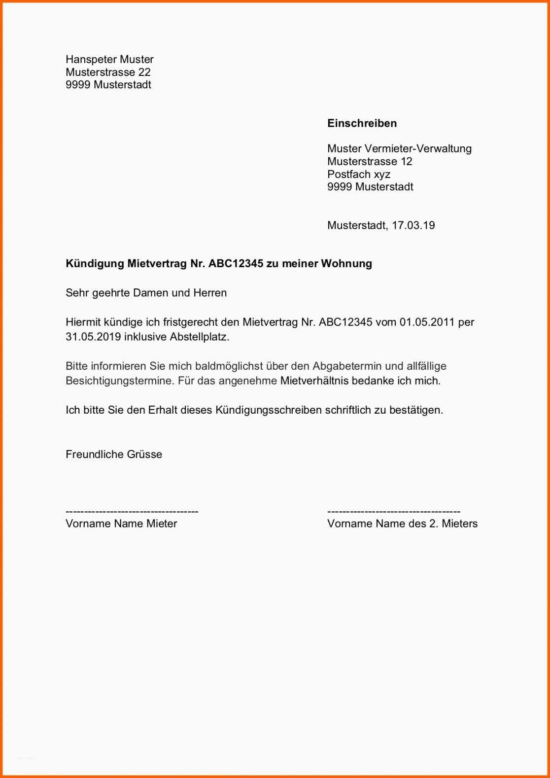 Naturlich Wohnung Kundigungsschreiben Vorlage Kundigung Schreiben Wohnungskundigung Vorlage Kundigung Wohnung