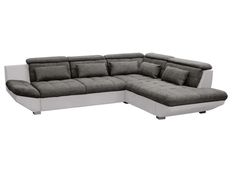 Canap d 39 angle droit convertible 5 places eternity coloris anthracite gri - Canapes cuir conforama ...