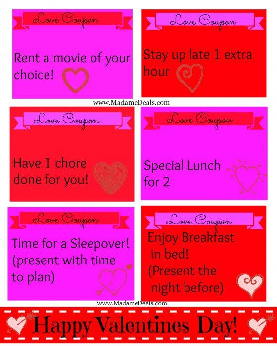 Free Lunch Coupon Template Cool Surprise Kids With Some Fun Valentine's Day Coupons  Valentines Day .