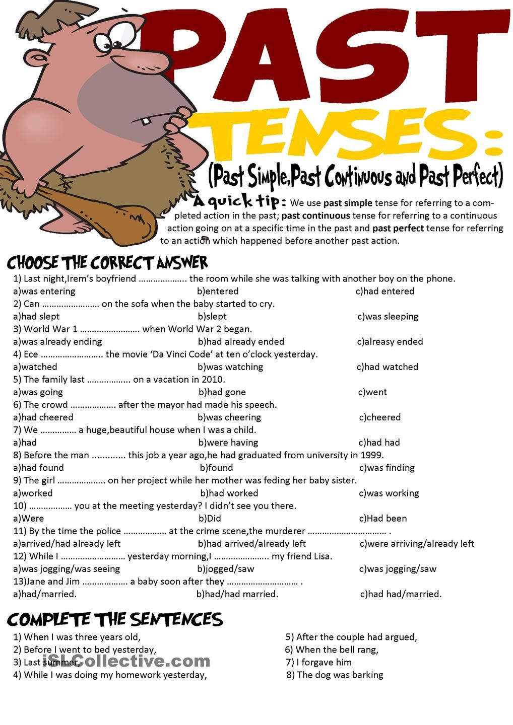 simple past tense Simple past – examples and rules – english tenses simple past examples: simple past first i read a book simple past - english grammar.