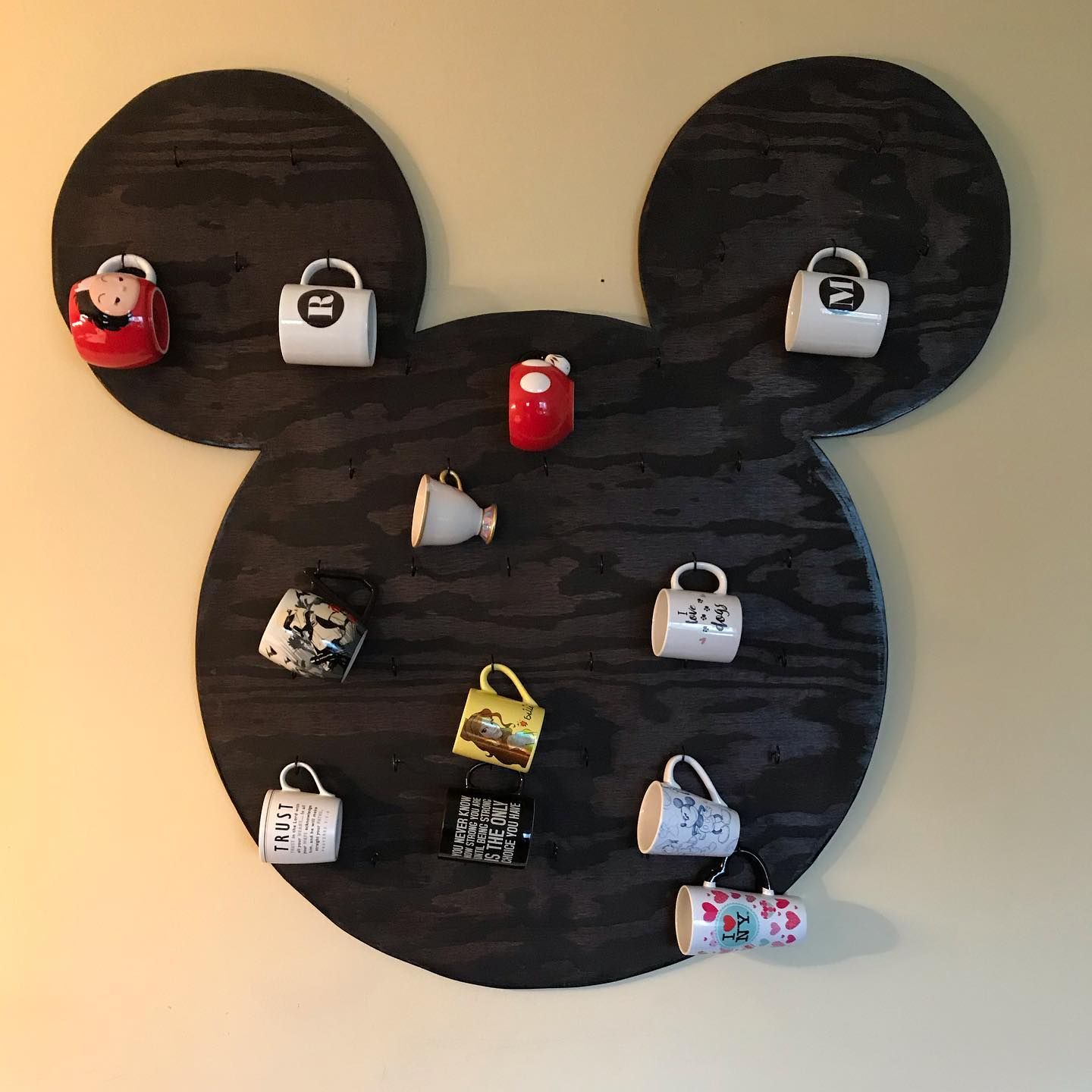 Mickey Head Mug Holder Hi Everyone This Is Our First Holder You Can Put 41 Coffee Mugs On It You Don T Need Coffee Mug Holder Mug Holder Mickey Mouse Mug