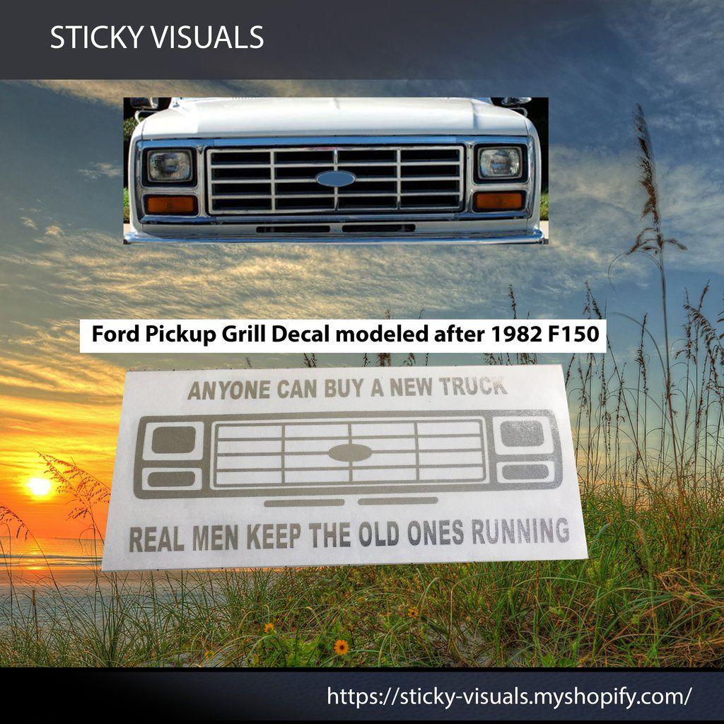 Ford F150 F250 F350 Bull Nose Front Grill Auto Window Decal Sticker Pick Color Decals Stickers Windowdecal Windowsticker Fundecal Makeastatement Ford Bu In 2021 Window Decals Front Grill Custom Vinyl Decal [ 1024 x 1024 Pixel ]