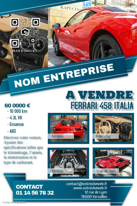 Pin by hAilp ⛄ on Poster Concession Auto Pinterest - car for sale flyer template