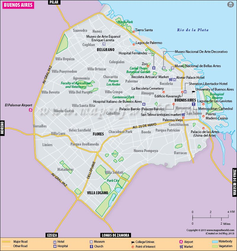 Map of Buenos AiresMapa de Buenos Aires Better known to us as