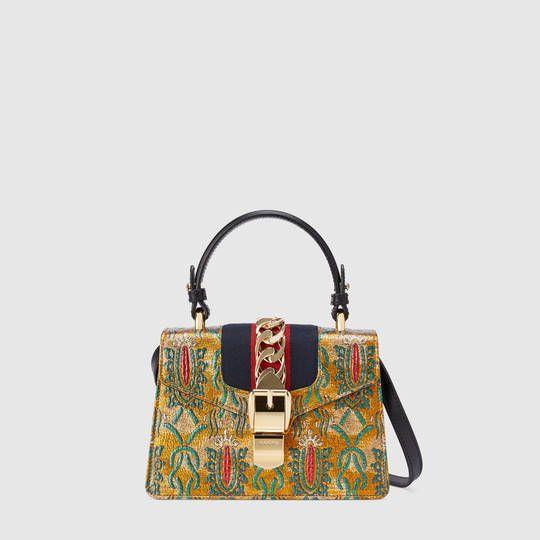 Sylvie Mini-sac À Bandoulière Brocart Gucci YLc6G