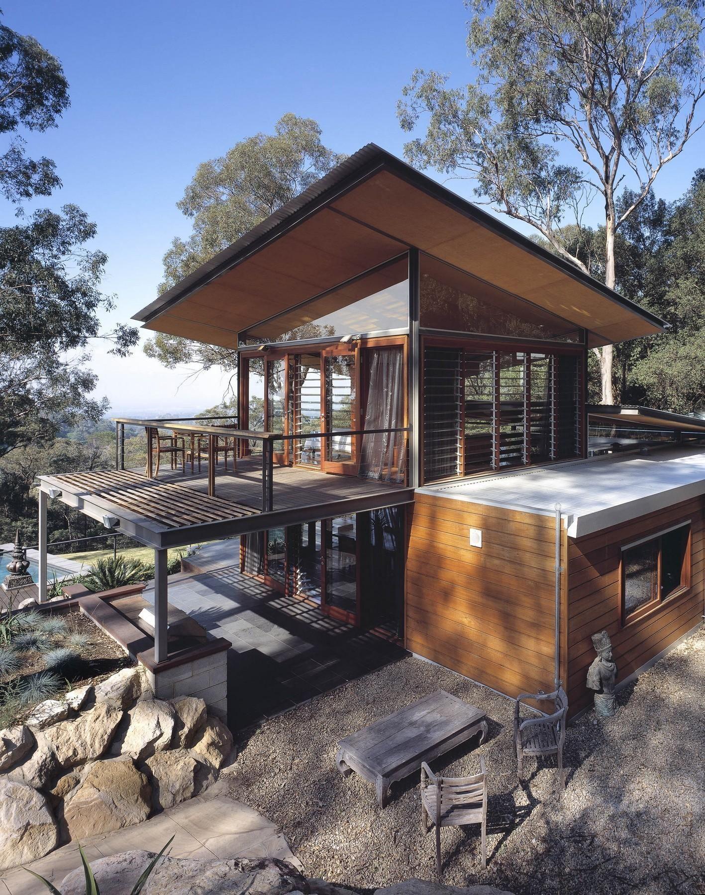 Vue Exceptionnelle Pour Cette Maison Bois Contemporaine à Lu0027architecture  Originale
