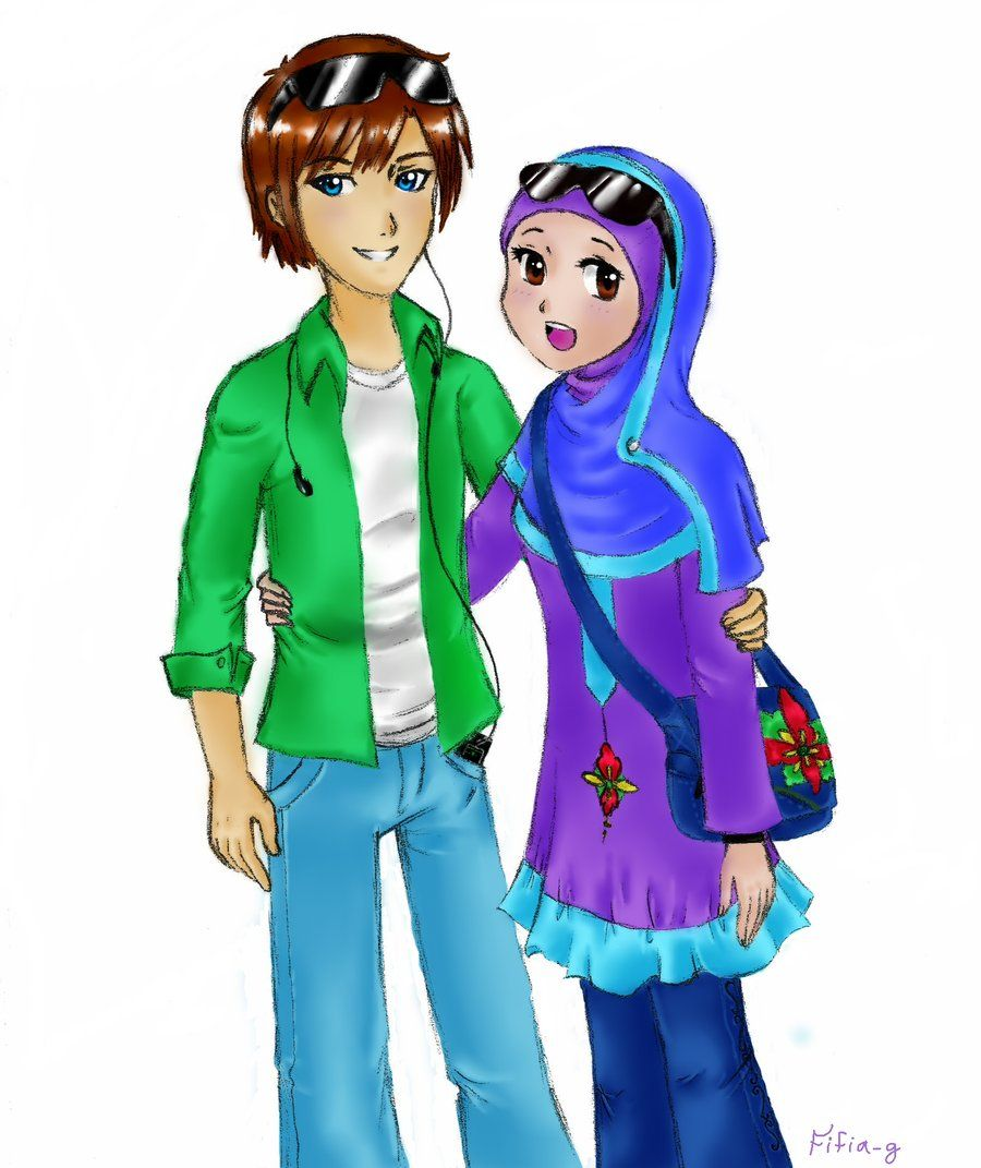 animemuslimcouple.jpg (900×1071) Muslim character