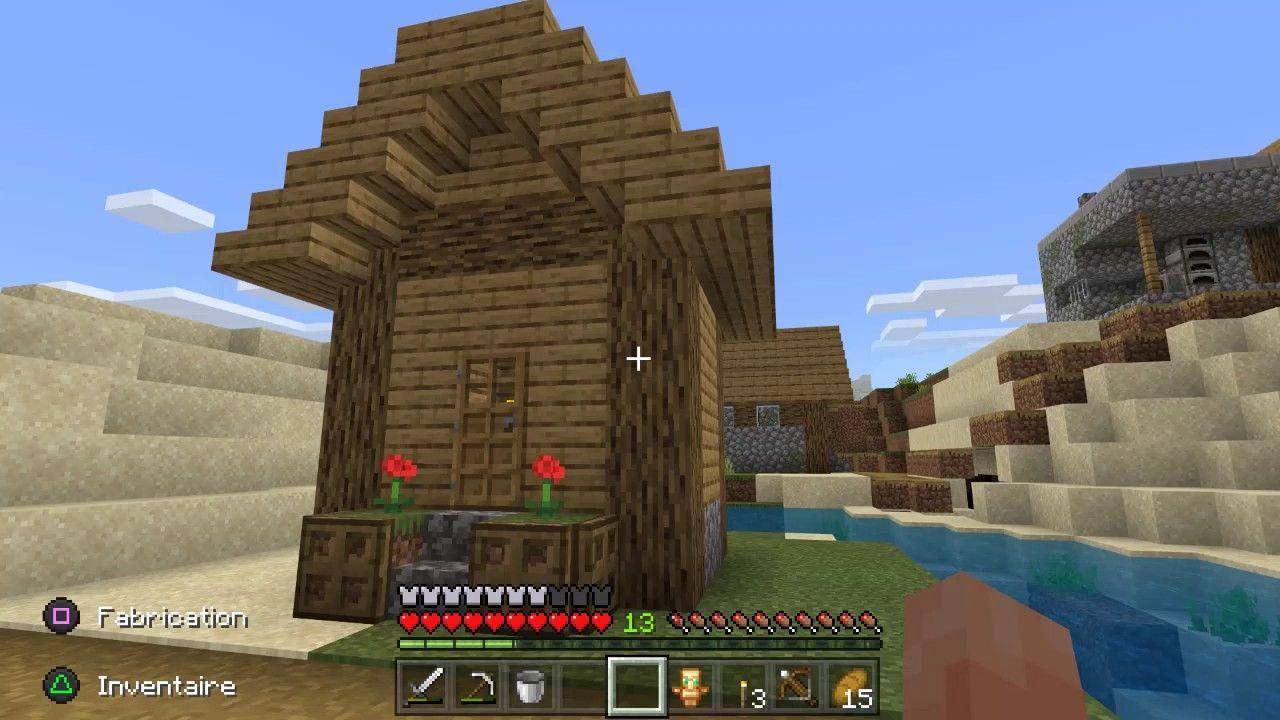 Minecraft Jolie Petite Maison En Bois Biome Riviere Petite Maison Bois Jolies Petites Maisons Maison Bois