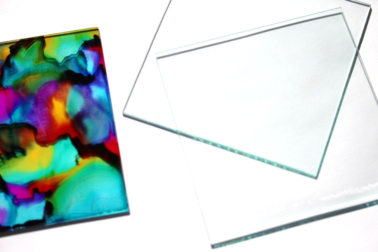 4 x 4 inch Glass Tiles 24 Squares Large DIY Blank for Coasters ...