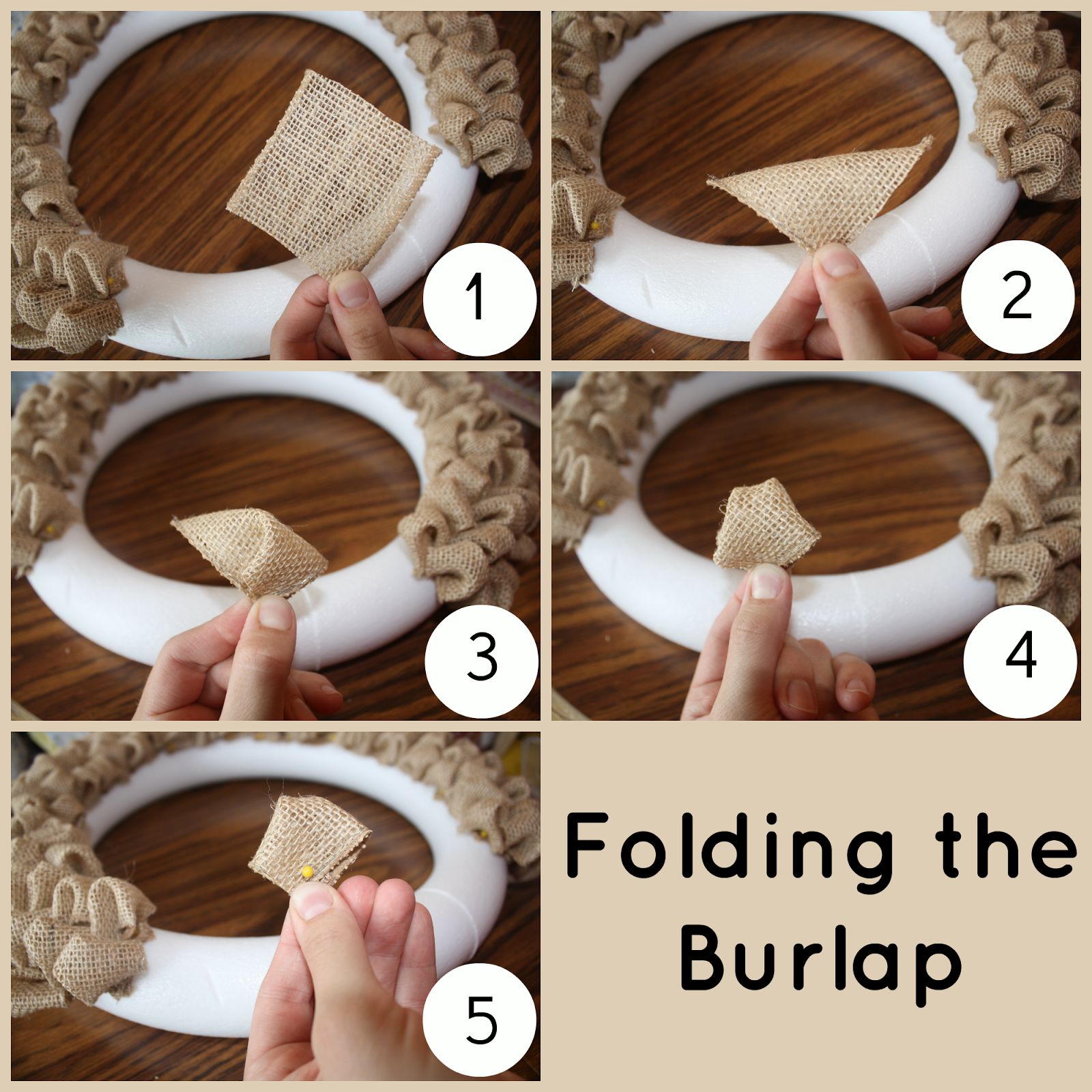 Ribbon wreath tutorial on wire hanger - Ribbon Wreath Instructions Using Wire Wreath Fold The Top Corner Down To The Bottom Corner