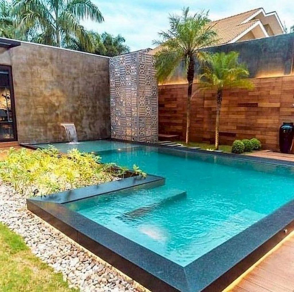 30 Beautiful Swimming Pool Design Ideas To See More Read It In 2021 Small Pool Design Small Backyard Pools Cool Swimming Pools