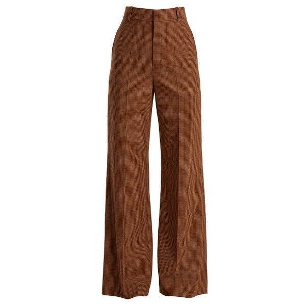 Wide Check Flare Pants Chloé Pay With Visa Free Shipping Comfortable CWyaE5nwN