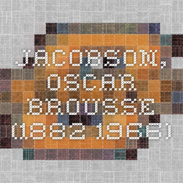 Information about Oscar Jacobson