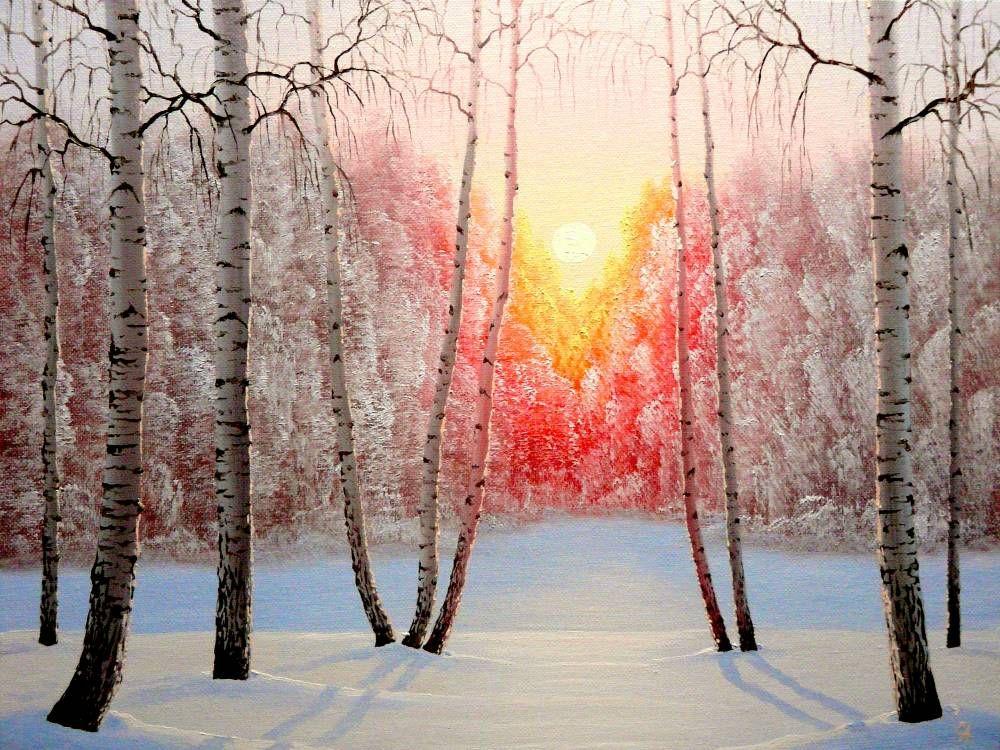 Зимнее утро картинки и рисунки жизни