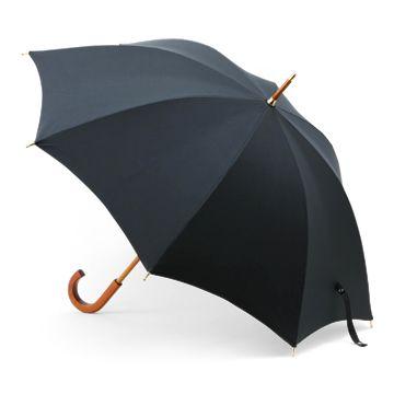 WAKAO/ピーチスキン長傘  ブラック 9450yen 優しい質感と光沢が高級感を醸し出す、日本製長傘