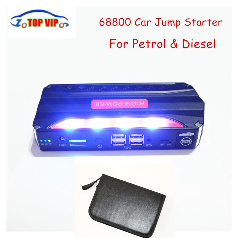 12V Petrol Diesel Multi-Function Car Jump Starter Mini 4USB Power ...