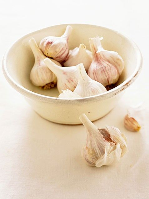 Erase earaches with garlic. Place 2 drops of warm garlic oil into aching ear twice daily for 5 days. This treatment clears up ear infections faster than prescription meds, say experts at the University of New Mexico. Garlic's active ingredients (germanium, selenium, and sulfur compounds) are toxic to dozens of pain-causing bacteria. Whip up your own garlic oil. Gently simmer 3 cloves of crushed garlic in 1/2 cup of extra virgin olive oil for 2 minutes, strain & refrigerate for up to 2 weeks.