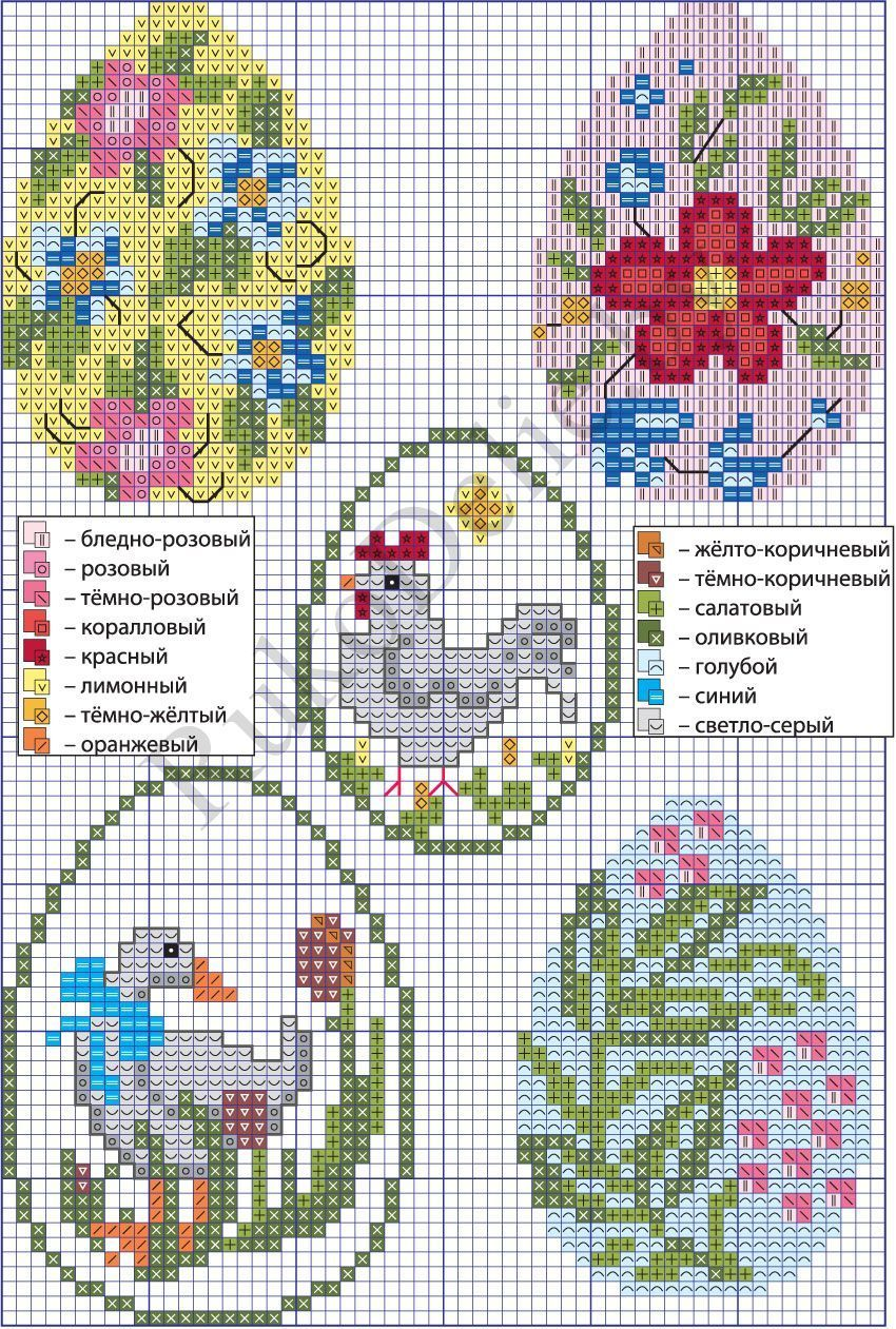 Free cross stitch pattern for easter eggs crossstitchpatterns