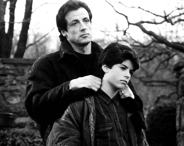 Sylvester Stallone and son Sage Stallone. Remember this picture from Rocky? Sage played his son in the movie. RIP Sage...sad...only 36 years old.