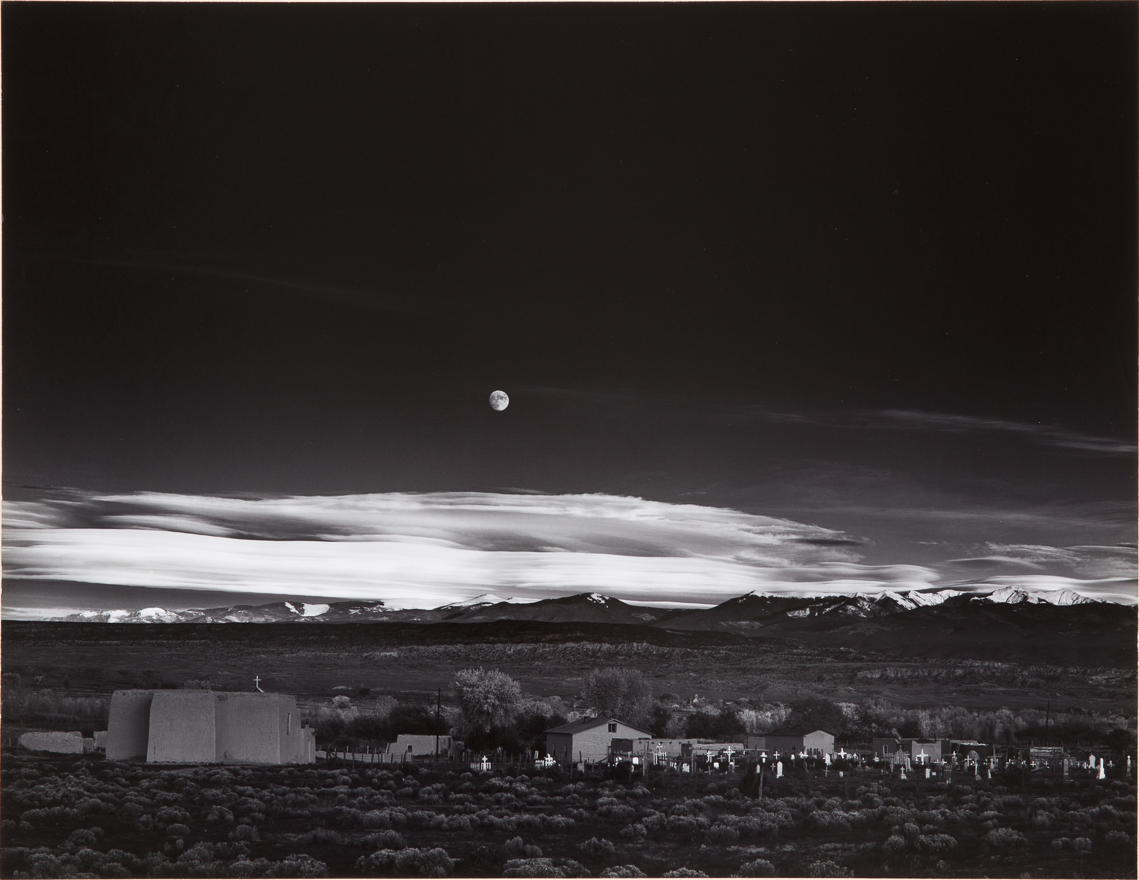 Moonrise, Hernandez, New Mexico by Ansel Adams on Paddle8. Paddle8 is a marketplace for collectors, presenting auctions of extraordinary art and objects.