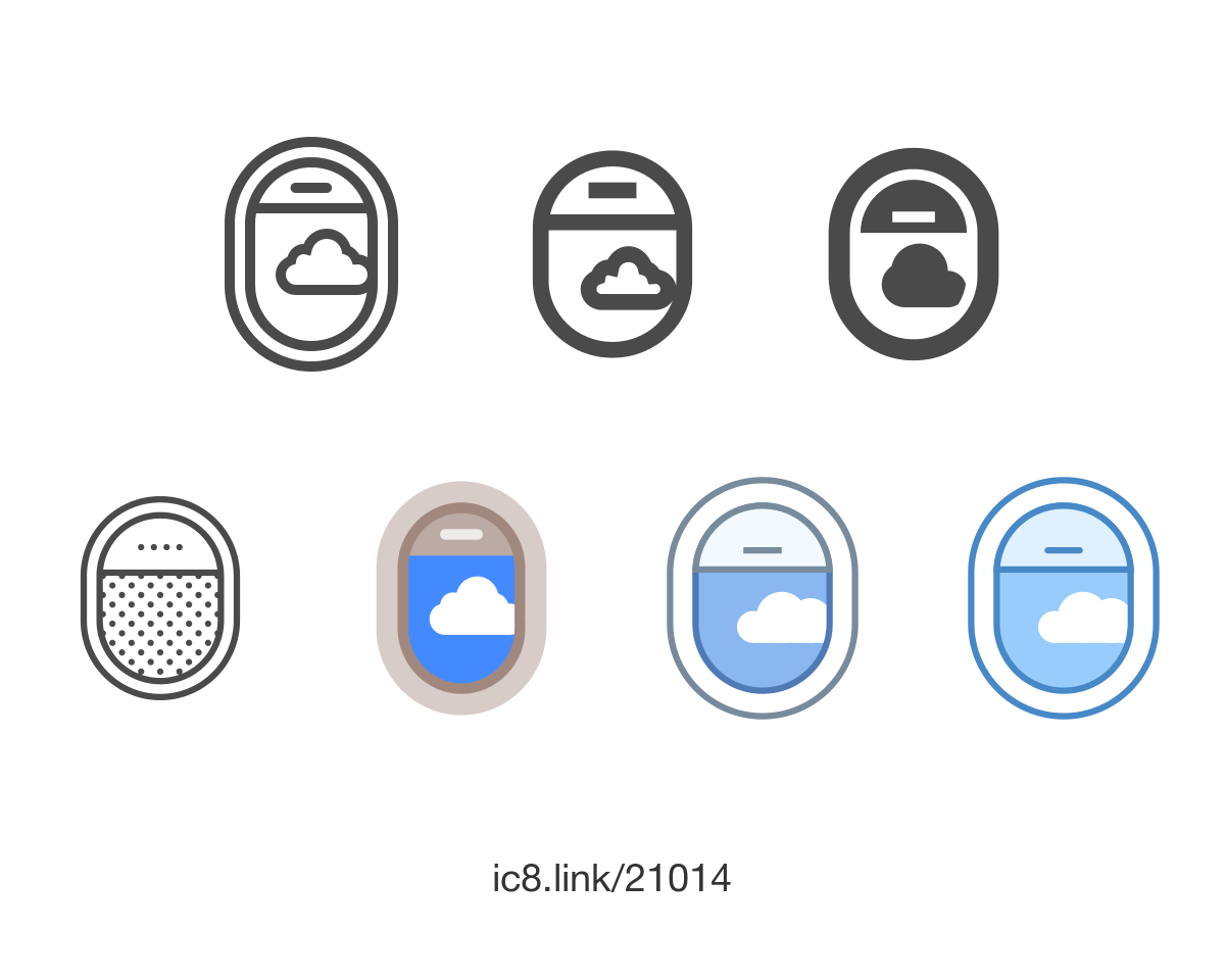 Free Flat Airplane Window Open Icon Of Ios Available For Download In Png Svg And As A Font Icons Graphicdesign Design U Airplane Window Icon Airplane