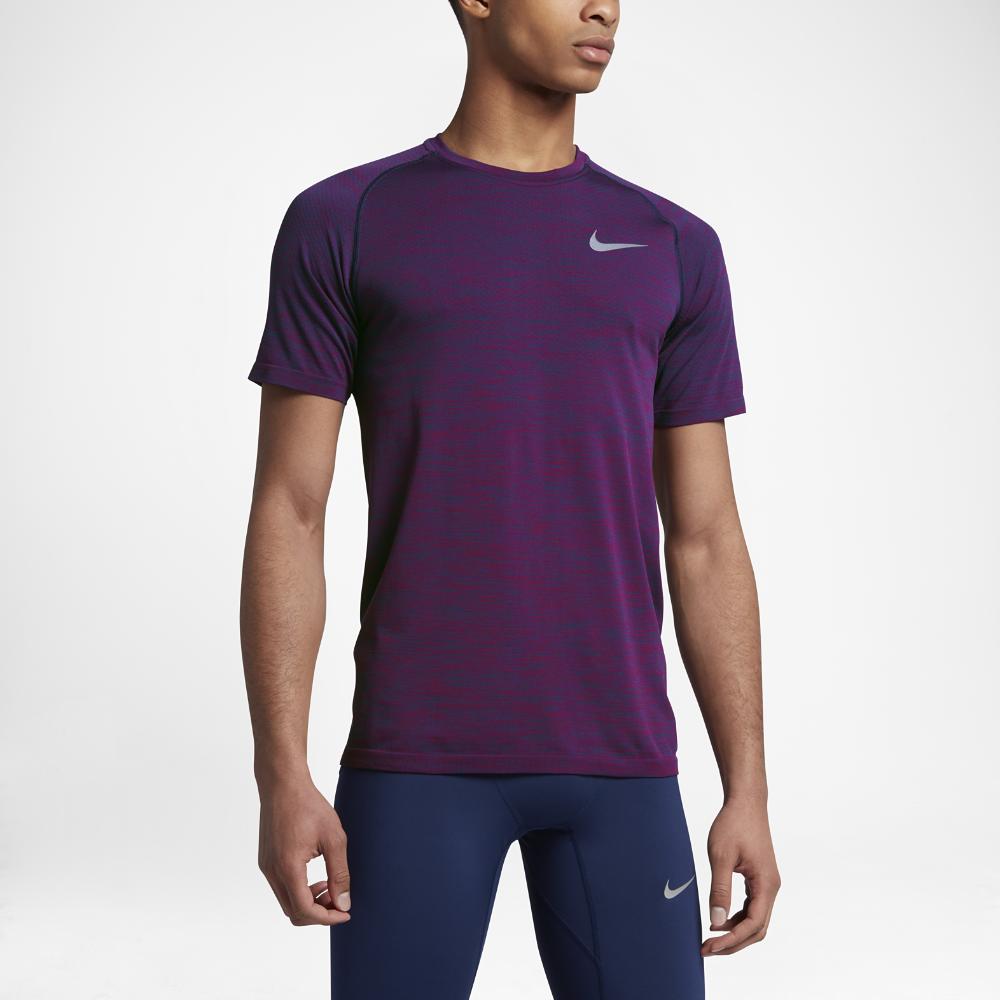 Nike Dri FIT Knit Running Top Herren Laufshirt blu online