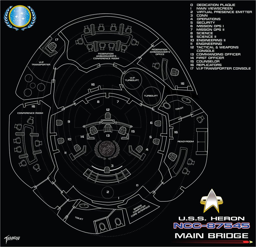 Uss Heron Bridge Schematics By Stourangeaudeviantartcom On Star Trek Engineering Deviantart
